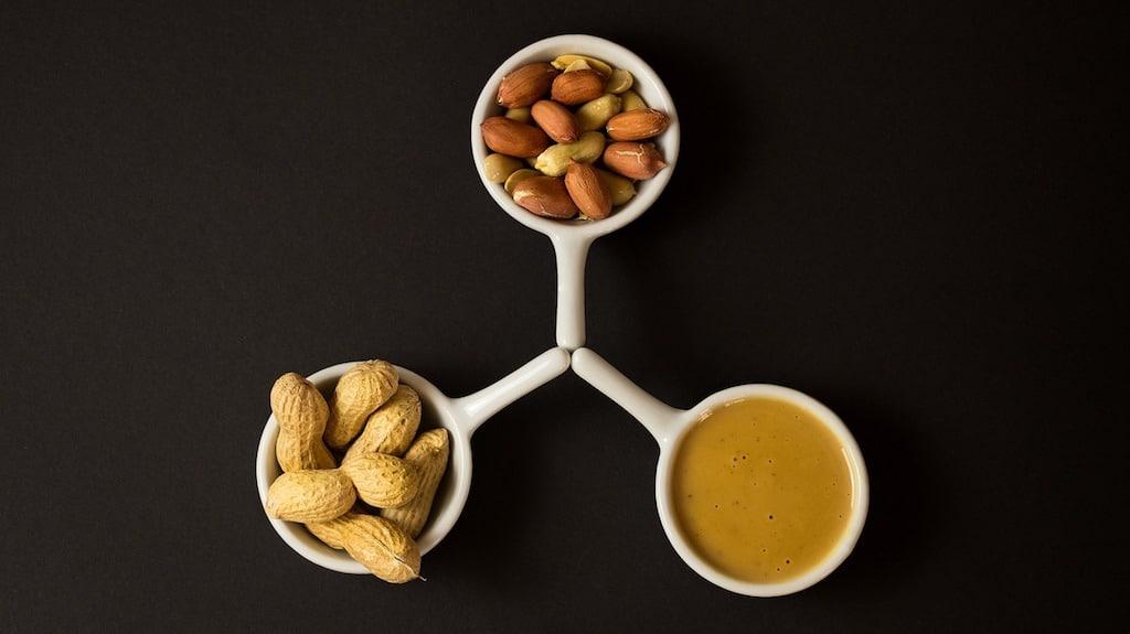 mal bouffe saine cacahuètes